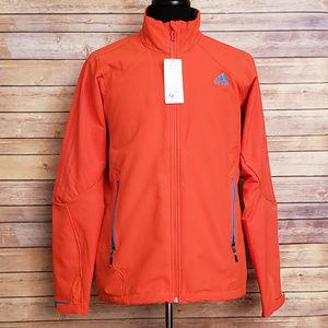 Adidas Orange Soft Shell Jacket Large Lined Coat